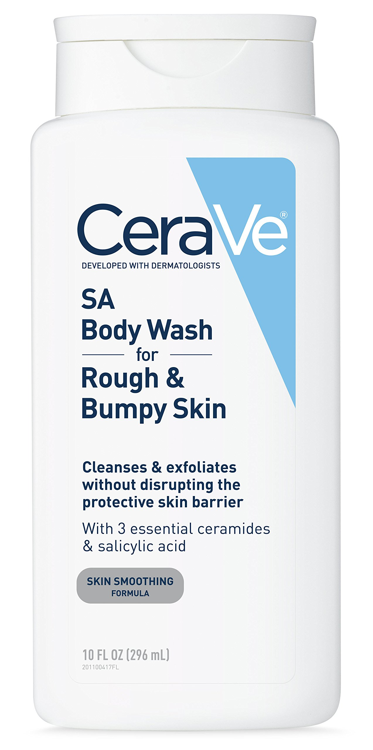 CeraVe Body Wash with Salicylic Acid | 10 Ounce | Fragrance Free Body Wash to Exfoliate Rough and Bumpy Skin by CeraVe