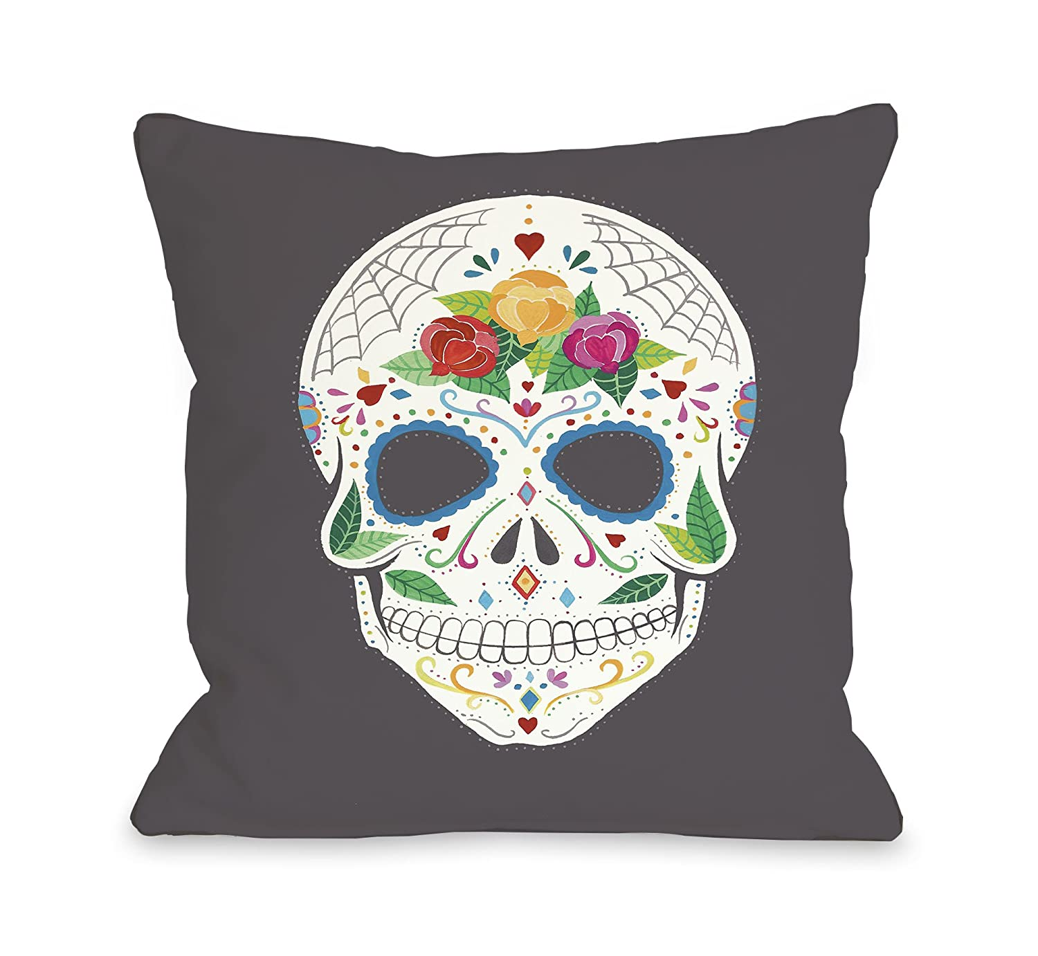 Amazon.com: Una Bella Casa Calavera Throw almohada por Ana ...