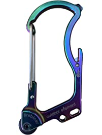 OUTDOOR ELEMENT The Firebiner A Fire-Starting, Multi-Tool, Every-Day-Carry, Survival Carabiner