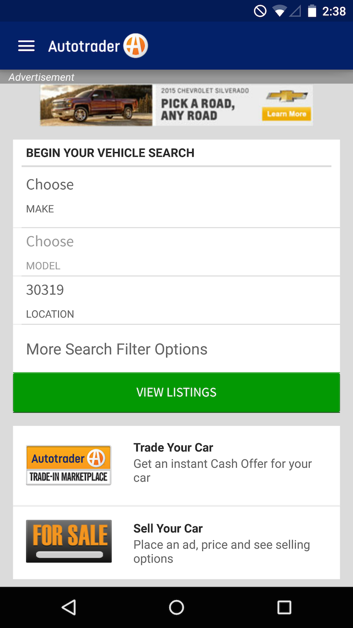 Auto Trader Oregon Amazoncom Autotrader Find New Amp Used Cars For Sale Appstore