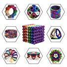 HENGBANG Magnetic Cube 216pcs Rolytoy Magnets Blocks Magnetic Sculpture Holders Square Cube Children's Puzzle Magic Cubes DIY Educational Toys for Kids (Colorful 1, 5mm)