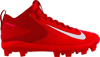 timeless design dfde2 f487f Nike Men's Force Trout 3 Pro Mid Baseball Cleats(Red/White, 8.5 D(M ...