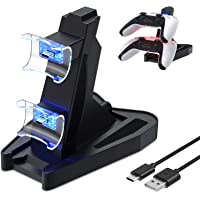 Controller Charger Compatible with PS5 Dual Controllers, Dual USB Charging Dock Station Stand Compatible with…