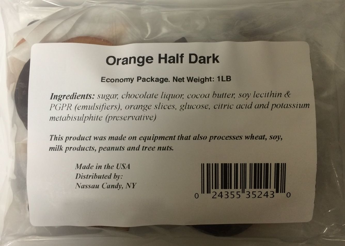 Orange Slices Dipped in Dark Chocolate Economy Package 1lb by Marich