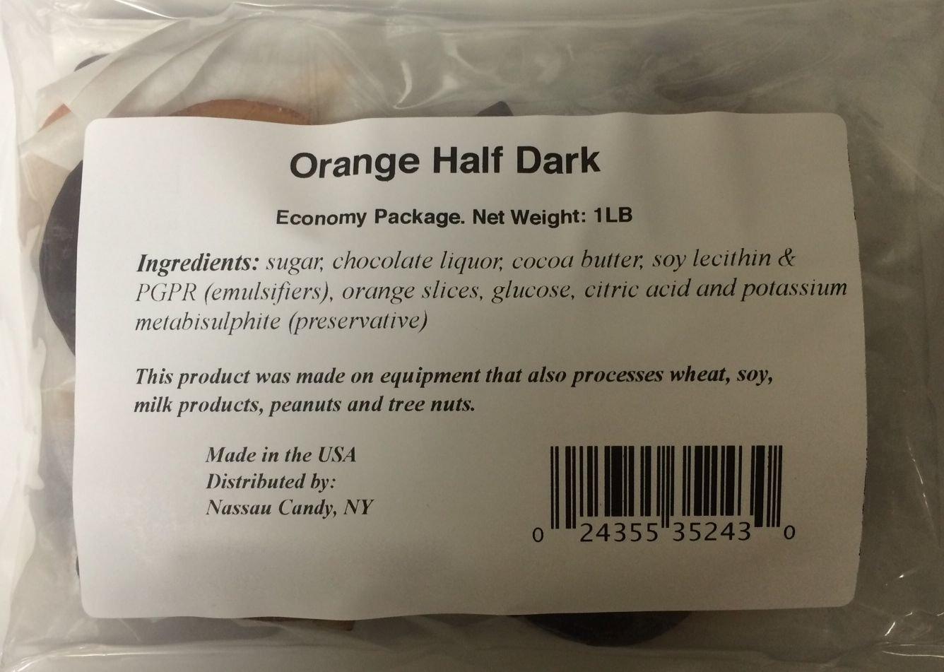 Orange Slices Dipped in Dark Chocolate Economy Package 1lb