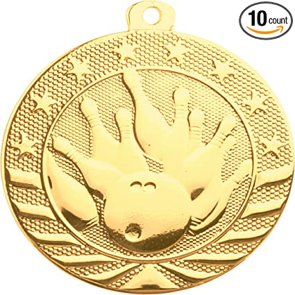 Express Medals Football Medal Gold 2 with Red White /& Blue Neck Ribbon Award Trophy