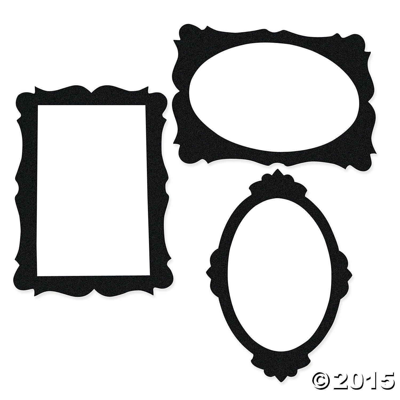 Amazon.com: Black Picture Frame Cutouts (3 Pcs. Per Set) 16 3/4 ...