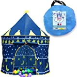 Kids Play Tent Indoor Outdoor - for Boys Girls Baby Toddler Playhouse Prince House Castle Blue  sc 1 st  Amazon.com & Amazon.com: Eggsnow Kids Play Tent Castle Play Tent for Boys and ...