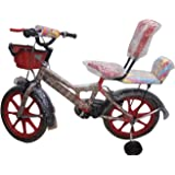Global Spider 16T Kids Bicycle for 5 to 8 Year Fully Adjustable with Back Support for Boys and Girls