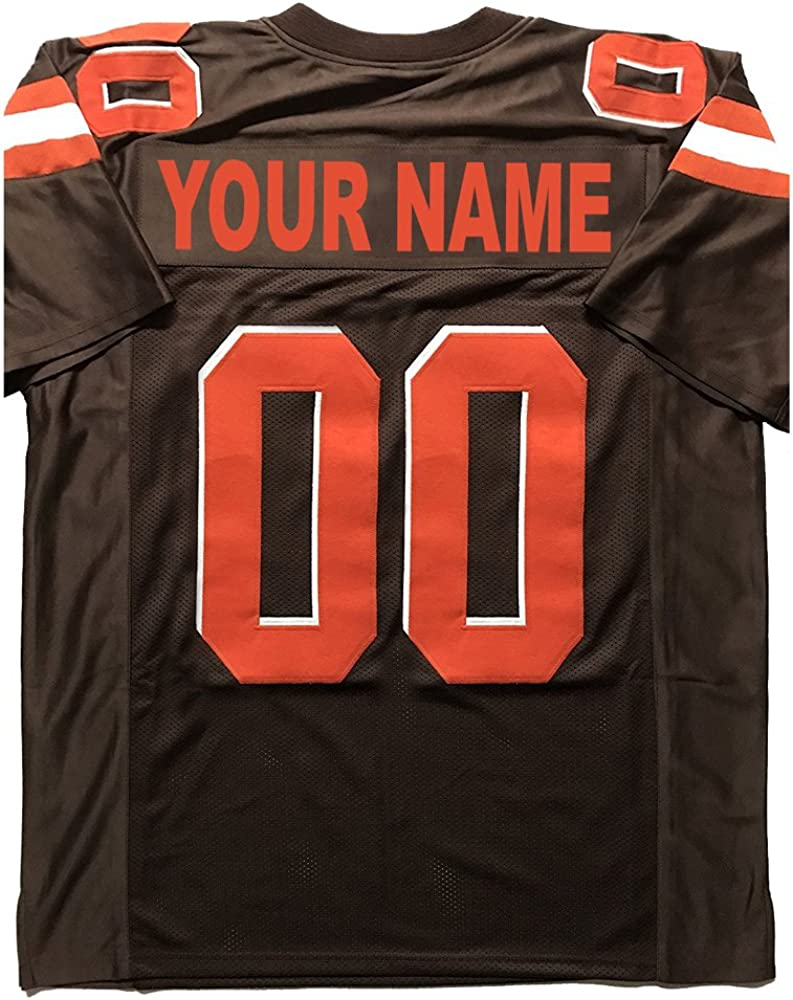 Custom Football Jersey Personalize Any Name and Number for Fathers Day,Thanksgiving Interesting Gifts Jerseys