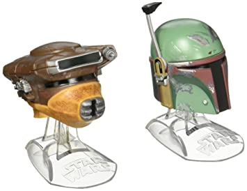 Star Wars negro serie titanio serie Boba Fett & Princesa Leia Organa (Boushh) cascos