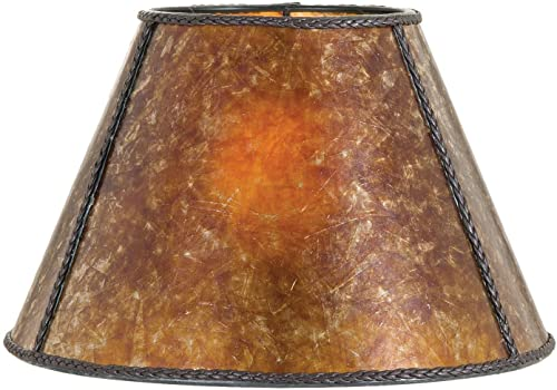 B P Lamp Mica Shade, Antique Amber