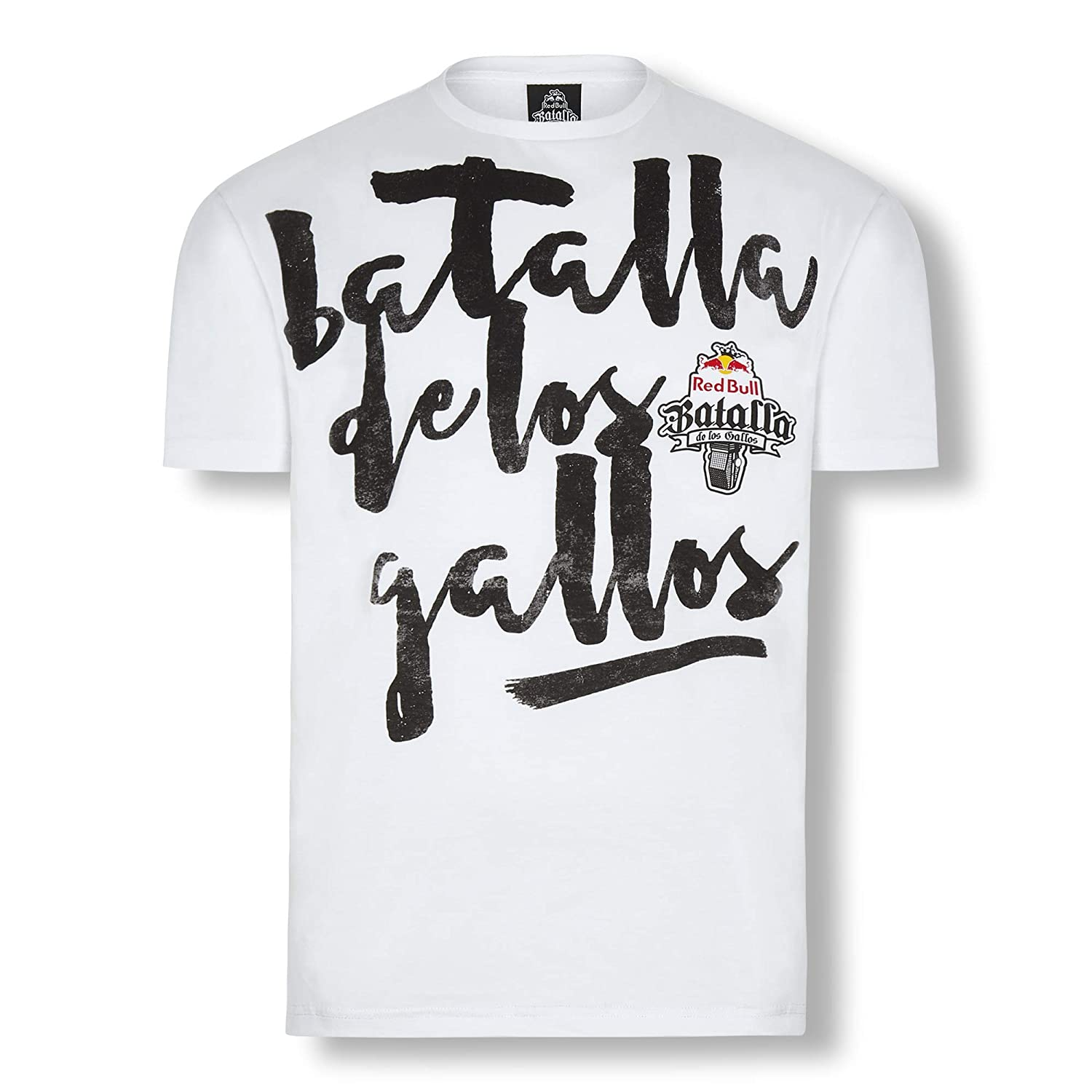 Red Bull Batalla Freestyle Camiseta, Blanco Hombre Top, Batalla de los Gallos Hip Hop Freestyle Original Ropa & Accesorios