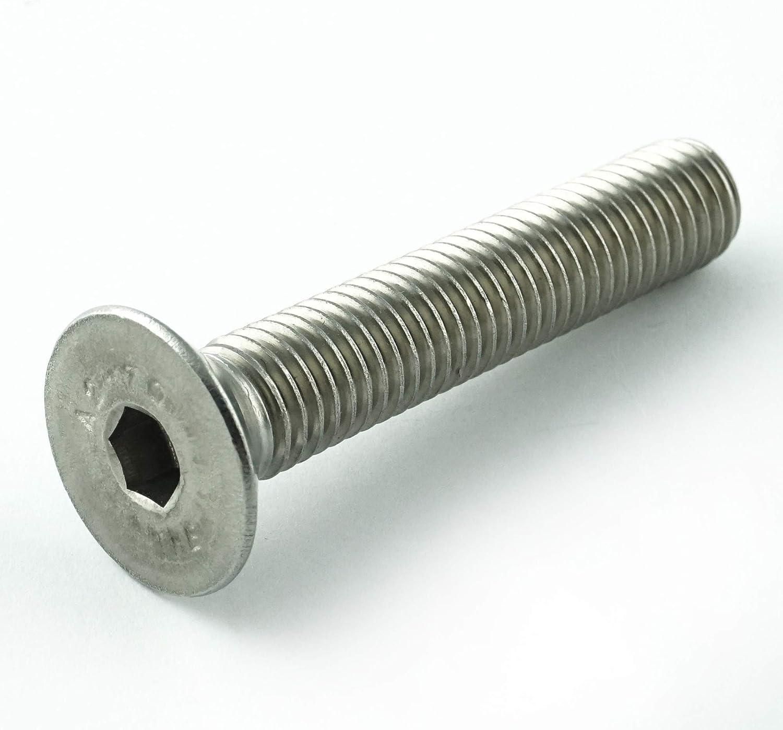 ISK DIN 7991 // ISO 10642 en acier inoxydable A2 Lot de 10 vis /à t/ête frais/ée avec six pans creux V2A