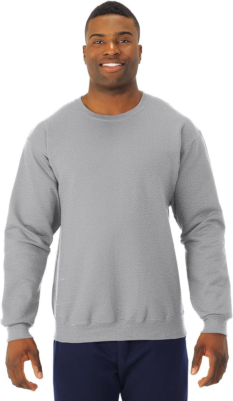 Jerzees Mens Pill Resistant Long Sleeve Crewneck Sweatshirt