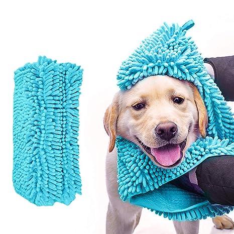 Robluee - Toalla de baño para Perro, Gato, Microfibra, para Cachorro, Gato