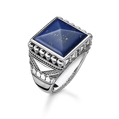 f7ccc566f755 Thomas Sabo Men Ring Ethnic Skulls Blue 925 Sterling Silver ...