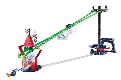 Turbo - Set de juego, Zipline Stunt Race (Mattel Y5797)