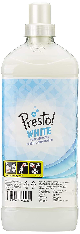 Marca Amazon - Presto! Suavizante concentrado blanco, 360 lavados (6 Packs, 60 cada uno): Amazon.es: Salud y cuidado personal