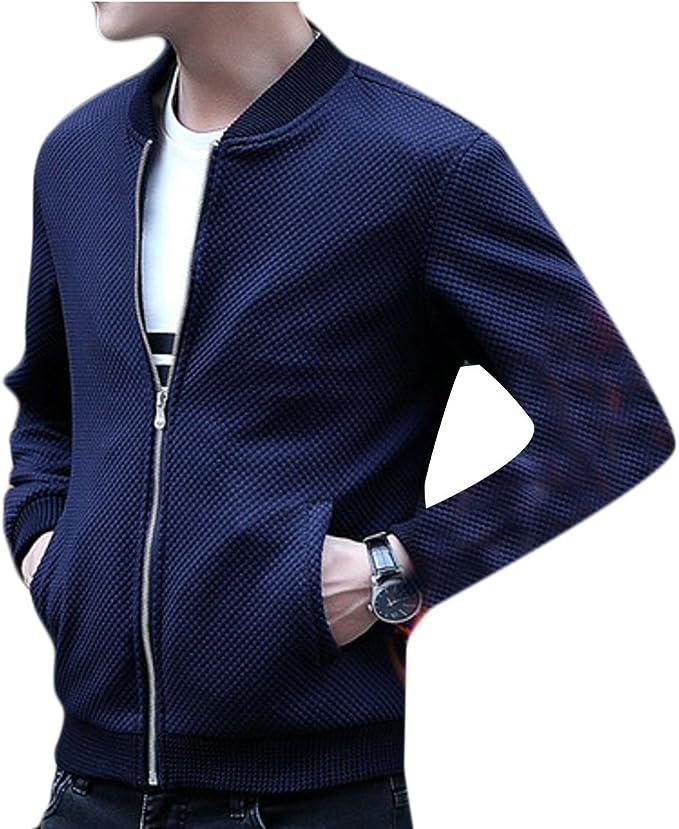 Nanquan Men Long Sleeve Stand Collar Solid Button Down Uniforms Jacket Coat