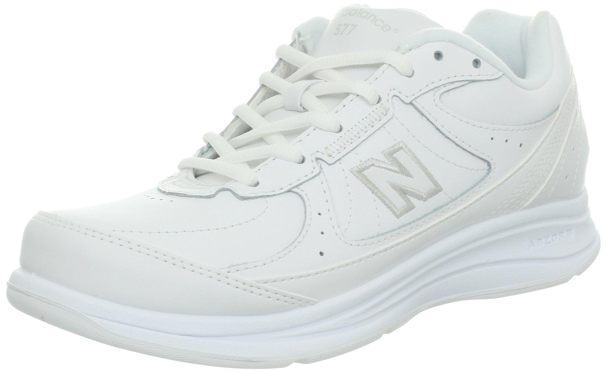 New Balance Women's WW577 Walking Shoe, White, 8 D US by New Balance