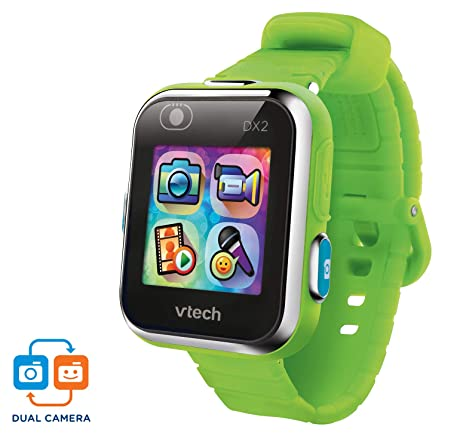 VTech Kidizoom Smart Watch DX2 - Reloj inteligente para niños con doble cámara, color verde
