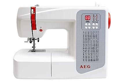 AEG Máquina de coser, plástico/metal, plástico/metal, weiß/rot