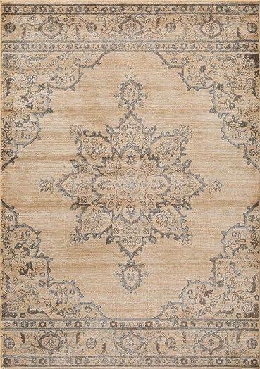 Luxe Weavers Ivory Oriental 8×10 Area Rug