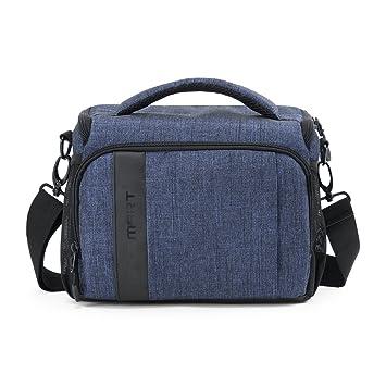 BAGSMART Custodia per Macchine Fotografiche Reflex Borsa a Tracolla per Fotocamera Borsa Fotografica Blu