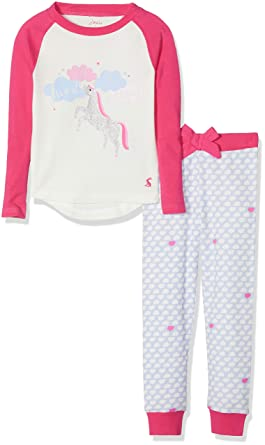 48e3e8b844 Joules Girl s Sleepwell Pyjama Sets  Amazon.co.uk  Clothing