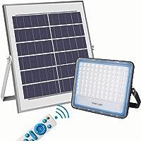 100W Focos LED Exterior Solares, Luz Solar Exterior Mando a Distancia, 6000K Luz…