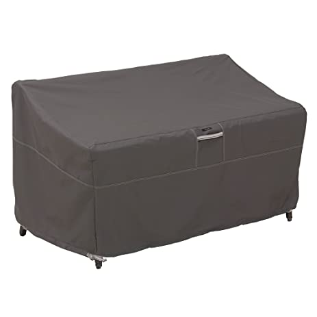 Classic Accessories Ravenna Patio Loveseat Cover   Premium Outdoor Furniture  Cover With Durable And Water Resistant