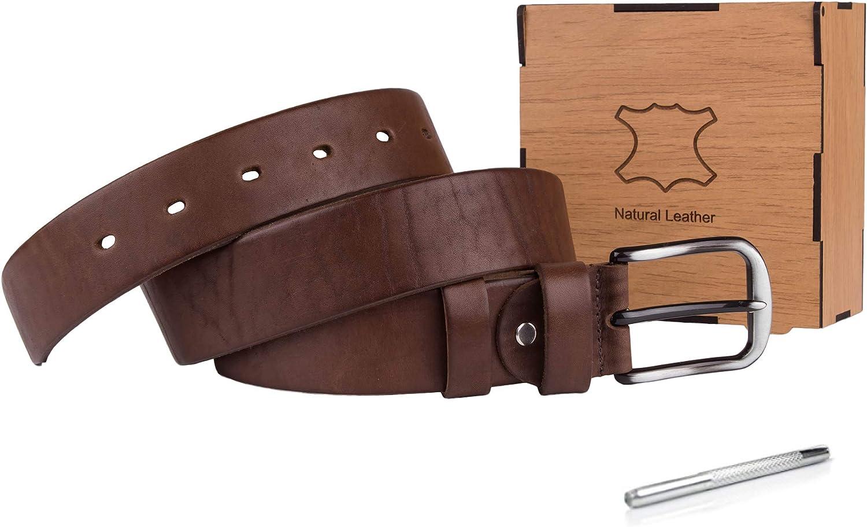 Genuine Leather Belts for Men Black /& Brown Full Grain Leather Belt for Mens