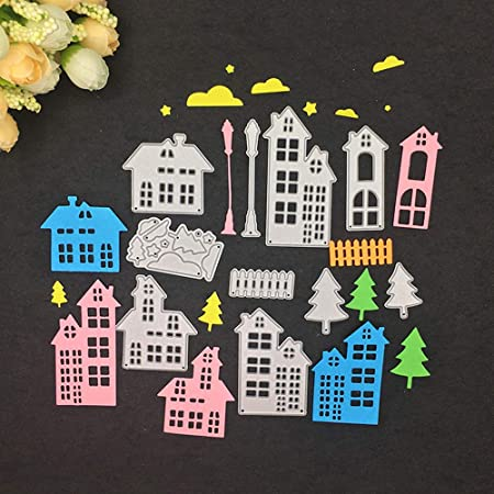 1.9 by 5.6 Inches Street Light Metal Cutting Dies for Card Making Scrapbooking Christmas Craft Dies JA050422
