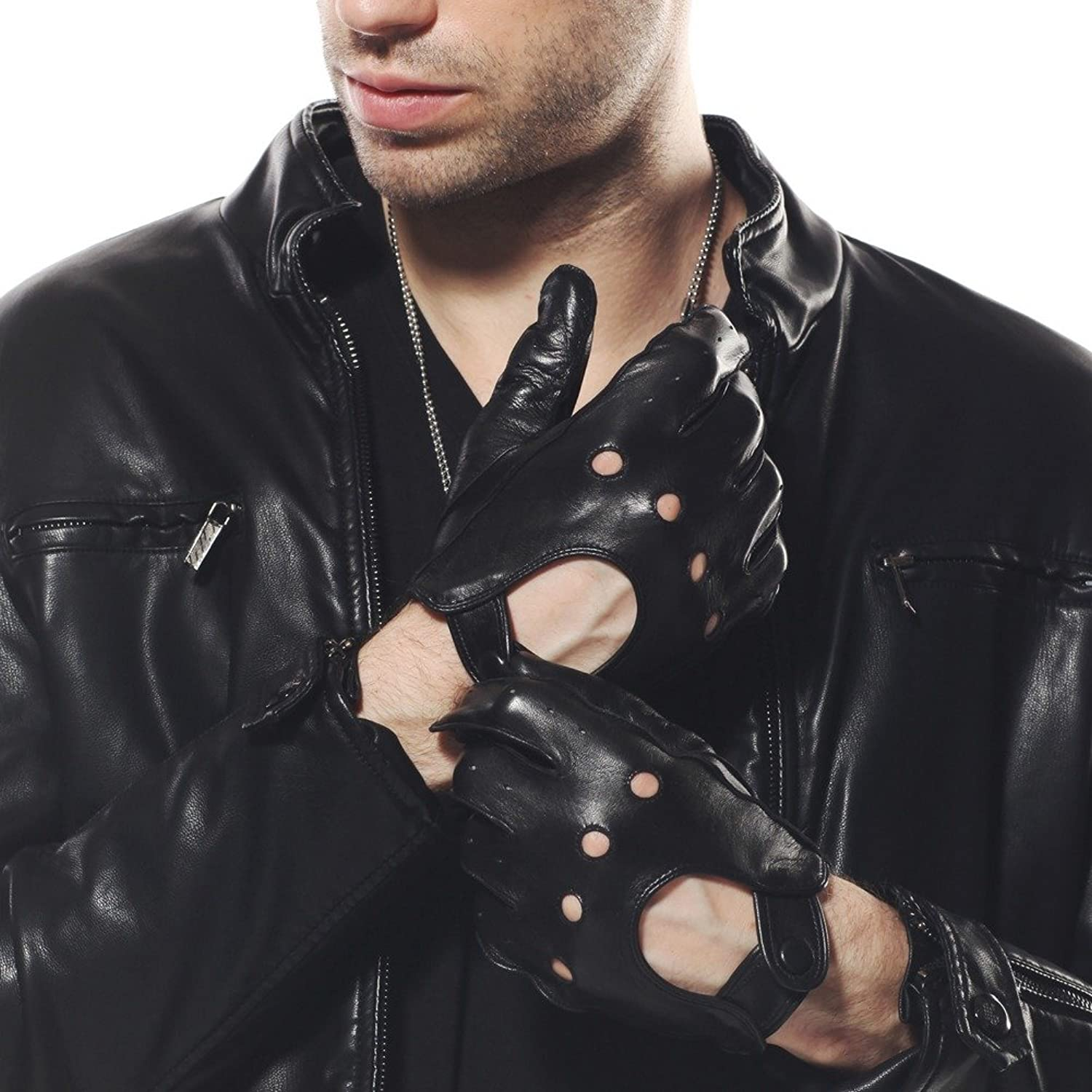 Leather driving gloves macys - Warmen Classic Men S Leather Driving Unlined Backless 4 Holes Gloves S Black At Amazon Men S Clothing Store Cold Weather Gloves