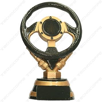 Trofeo coche/Volante 16,50 cm H placa personalizada compresa en el precio: Amazon.es: Deportes y aire libre