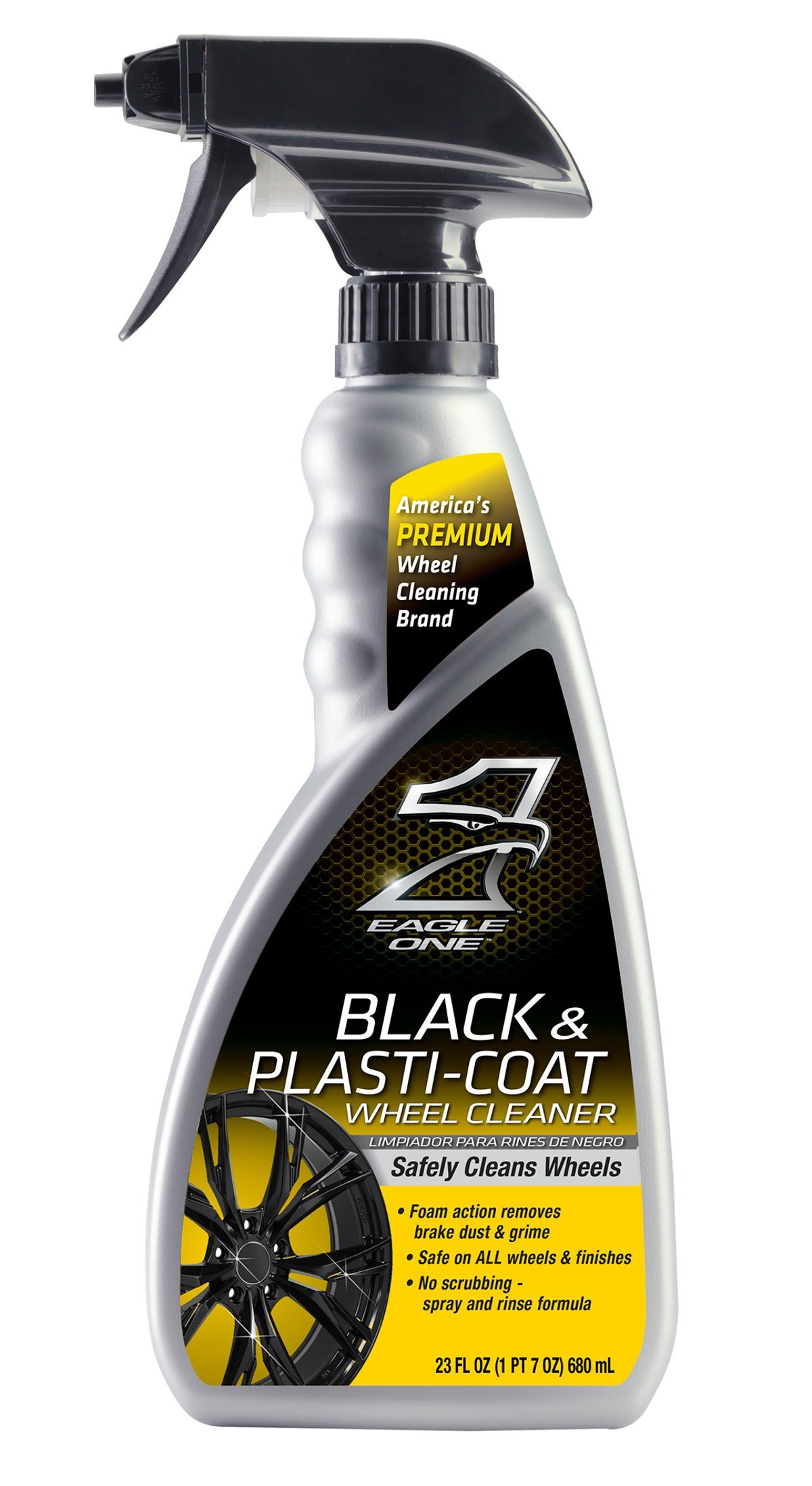Eagle One E301345400 Black and Plastic-Coat Wheel Cleaner, 23 fl. oz. by Eagle One (Image #1)