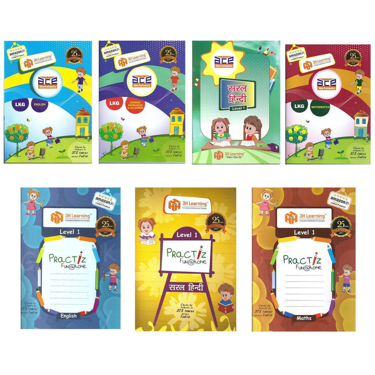 buy lkg kids 3 5 years all in one 558 pages ace early learning rh amazon in
