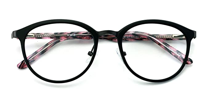 e411e41c9d5 Womens Round Circle Oval Vintage Fashion Acetate Non-prescription Glasses  Frame Clear Lens Eyeglasses Rx