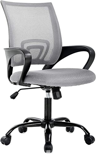 Office Chair Desk Chair Computer Chair Ergonomic Executive Swivel Rolling Chair Desk Task Chair with Lumbar Support for Women Men, Grey