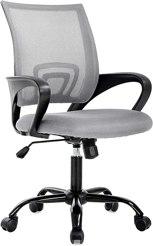 Amazon Com Office Chair Desk Chair Computer Chair Ergonomic Executive Swivel Rolling Chair Desk Task Chair With Lumbar Support For Women Men Grey Furniture Decor