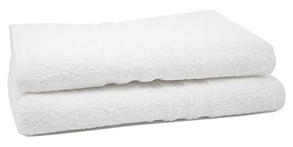 ZOLLNER® Juego de 2 Toallas de Ducha/Toallas de baño/Toallas de Cuerpo