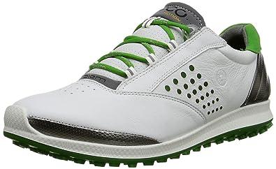ECCO Women's Biom Hybrid 2 Golf Shoe, White/Meadow, 36 EU/5