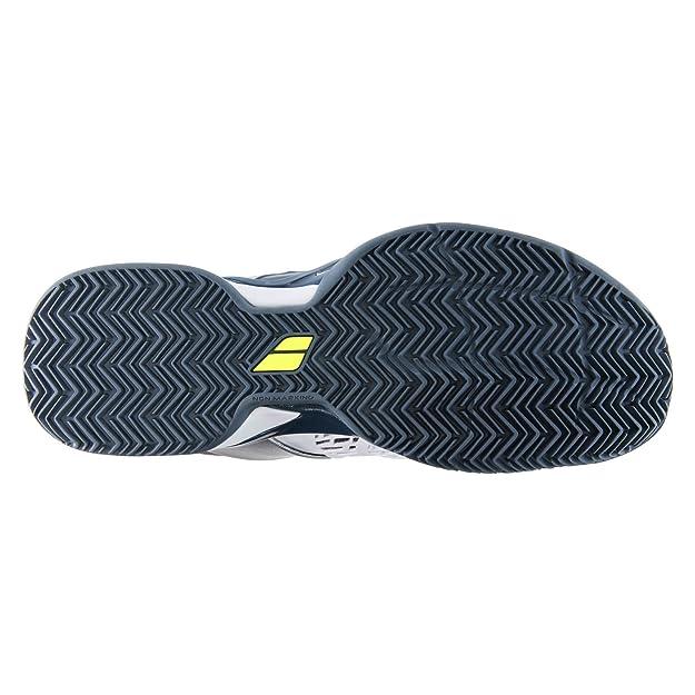 Amazon.com | Babolat Propulse Fury Clay Mens Tennis Shoes White/Black (11.5) | Tennis & Racquet Sports