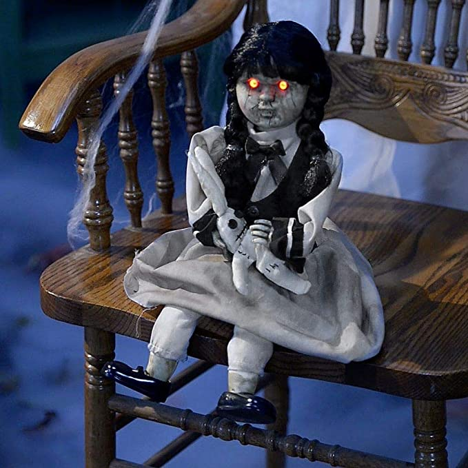 Animated Possessed Doll Halloween Decor