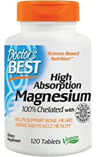 Doctors Best High Absorption 100% Chelated Magnesium (120 Tablets)