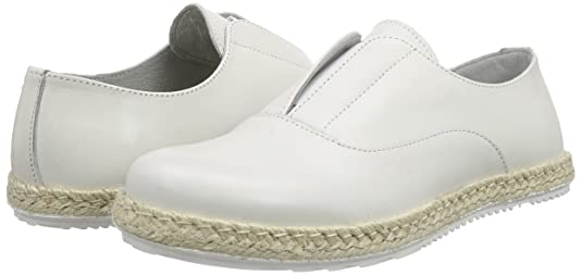 ShootShoot Shoes SH-150080FF Damen Leder Sommer Slipper - Mocasines Mujer, Color Blanco, Talla 40 Shoot