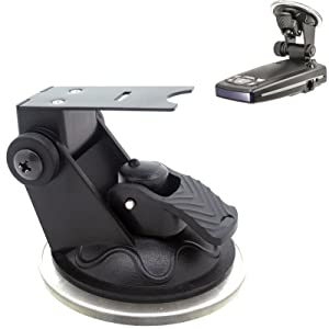 ChargerCity Car Dashboard & Windshield Suction Cup Mount Radar Detector Holder for Escort Passport 9500ix 9500 8500 8500x50 x55 7500 S55 s75 s75g Solo S3 Beltronics GX65 RX65 Vector Radar Detectors