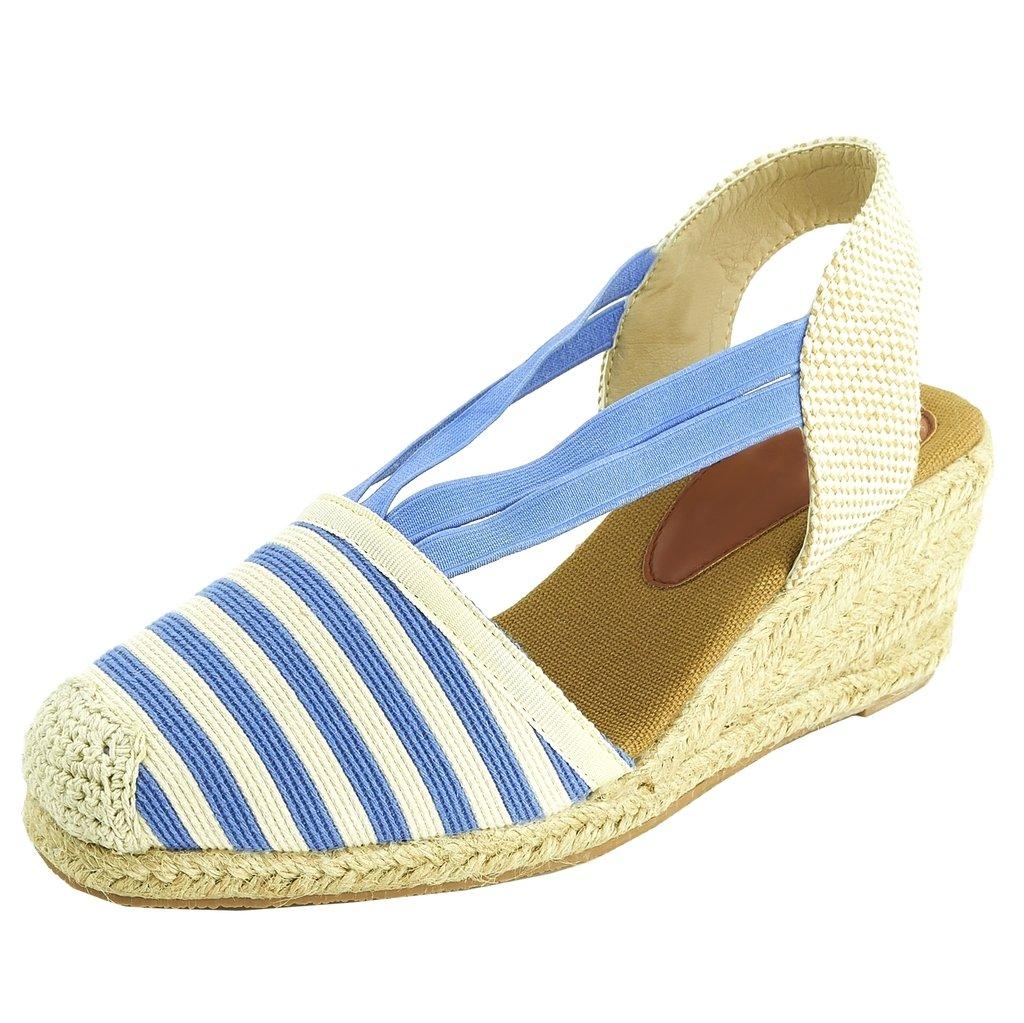 Sopily Chaussure Mode Espadrille Sandale Plateforme 7.5 Elastique Plateforme - Hauteur Cheville Femmes Corde Talon Compensé Plateforme 7.5 cm - Noir et Blanc Bleu cac2aeb - reprogrammed.space