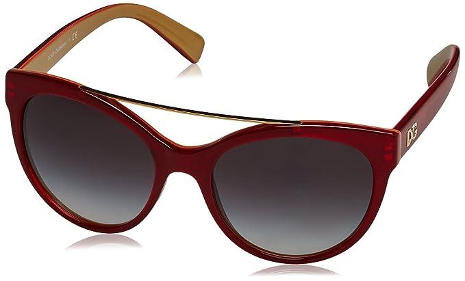 Dolce   Gabbana 0DG4280, Montures de Lunettes Femme, Multicolore (Top Red  on Gold), 62  Amazon.fr  Vêtements et accessoires ded8d5eb5bf7